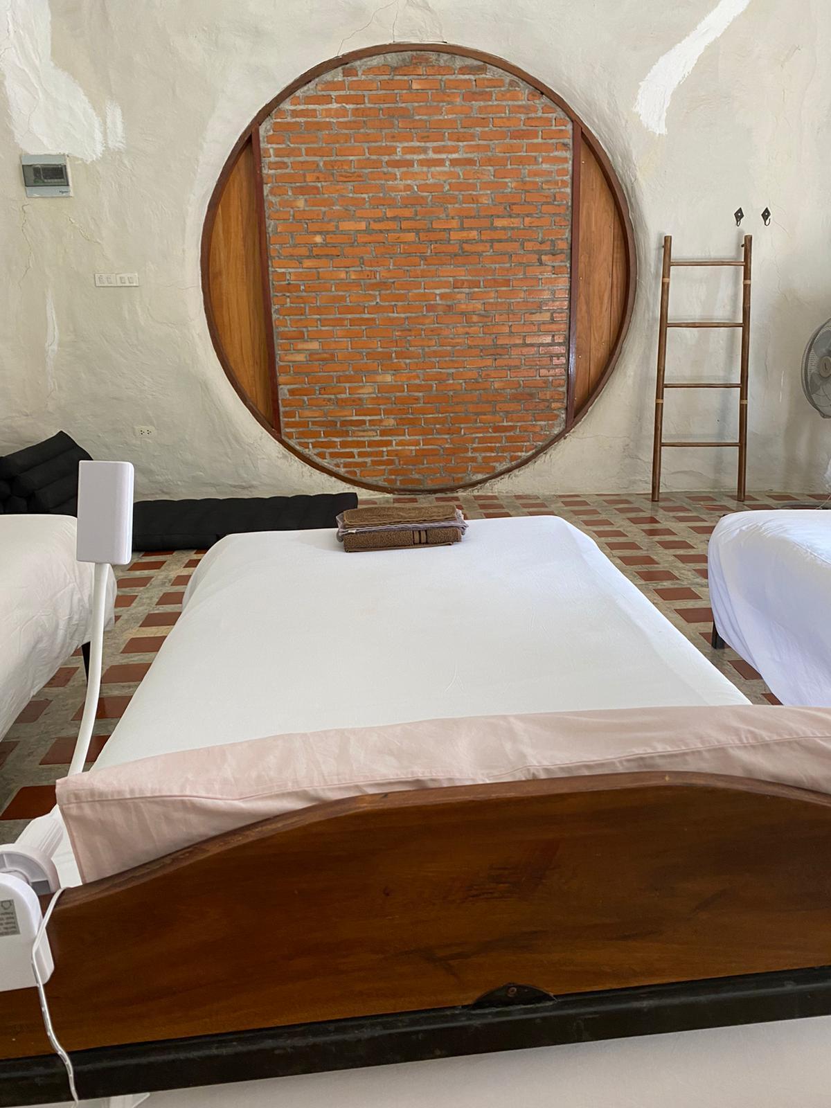 Bed in Adobe Villa Mala A Mala Dhara Chiang Mai