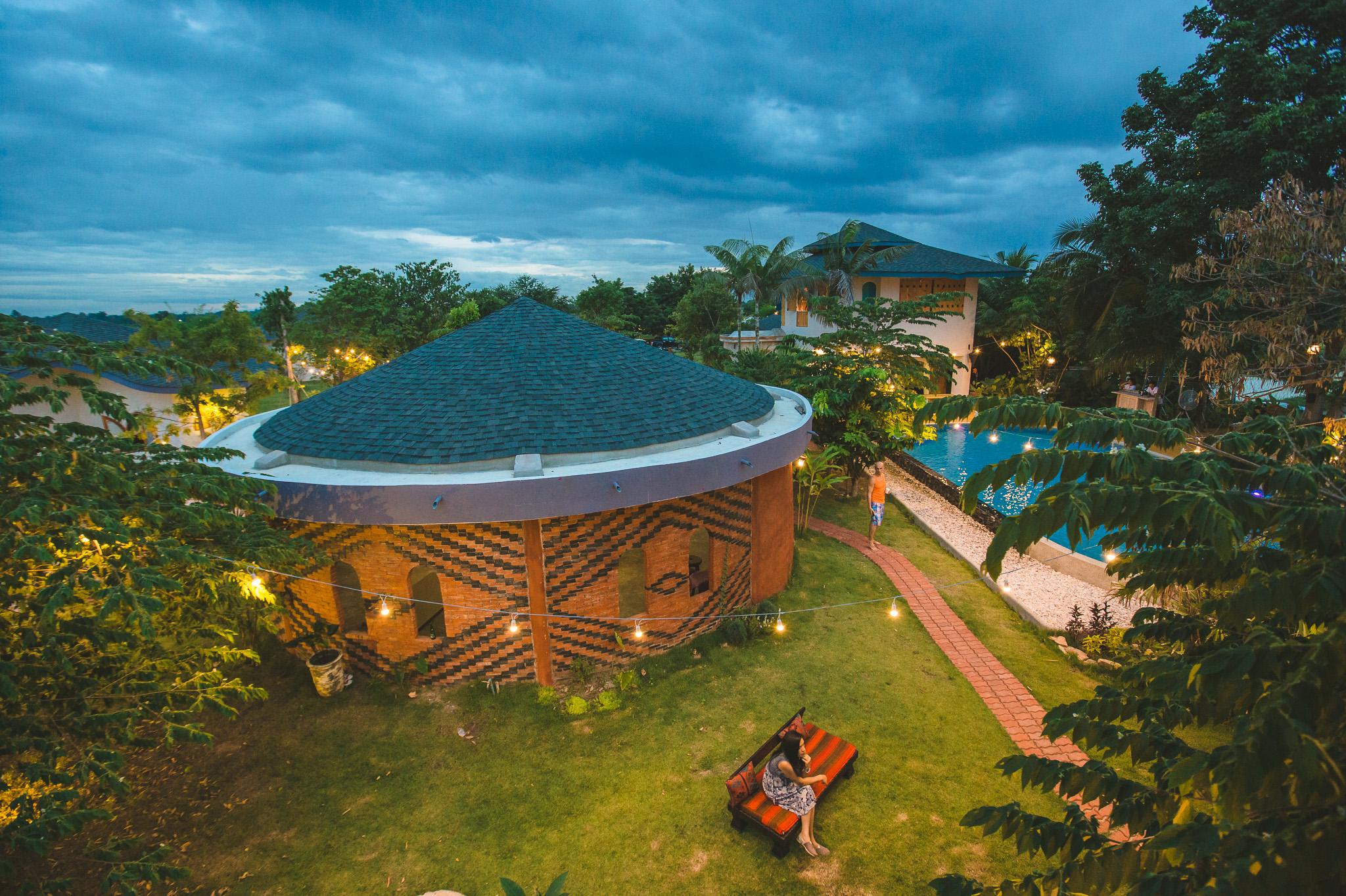 Yoga Shala by salt water pool @ Mala Dhara Eco Resort & Yoga Retreat Center in Chiang Mai, Thailand