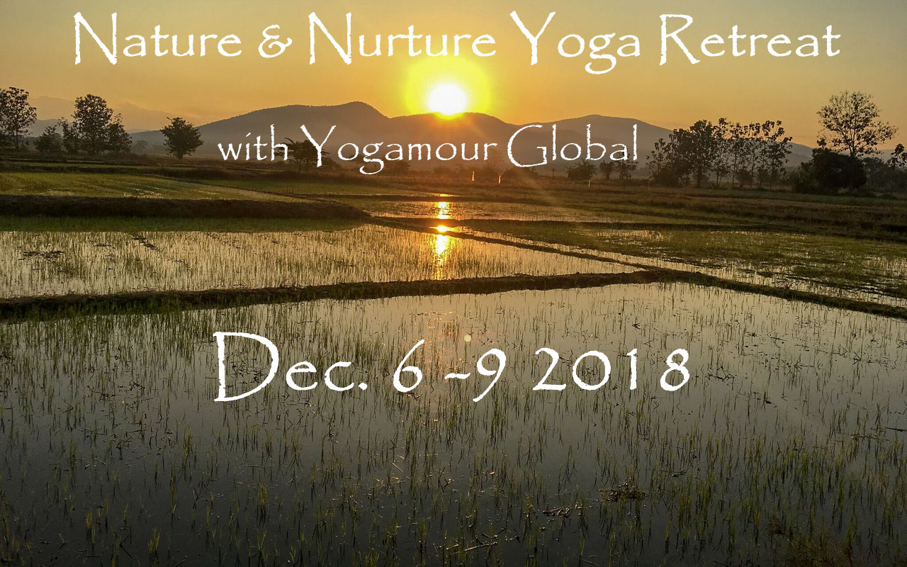 Yogamour Global will host a yoga retreat at Mala Dhara Eco Resort & Yoga Retreat Center Chiang Mai Thailand from December 6th - December 9th 2018