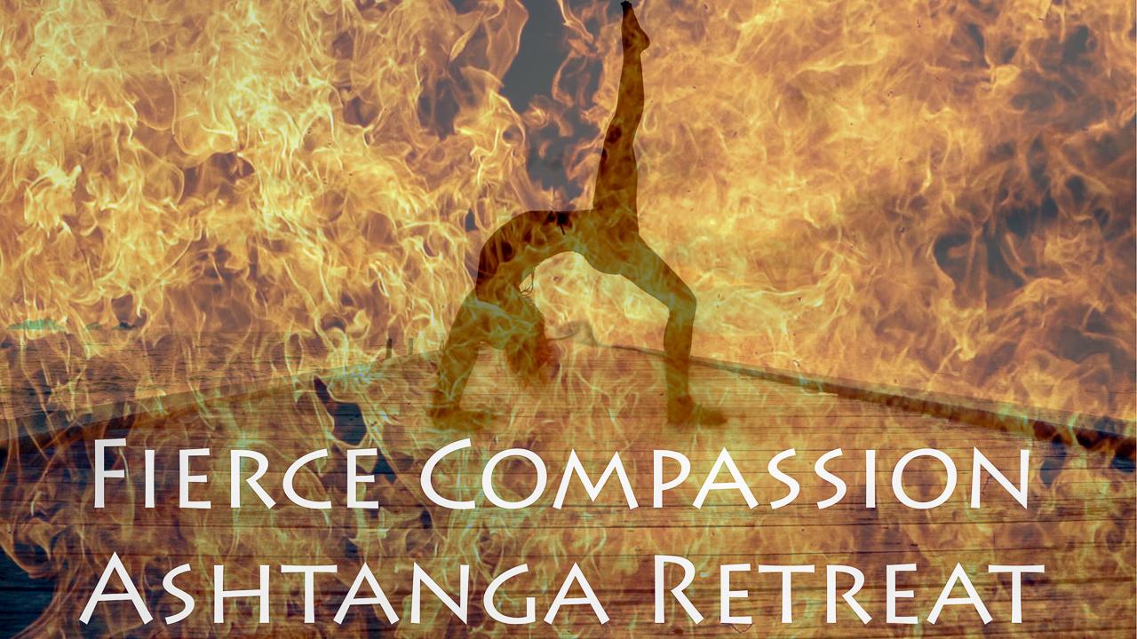 Ashtanga Yoga Retreat poster for Kerill Ezzy Yoga at Mala Dhara Yoga Retreat Center Chiang Mai Thailand