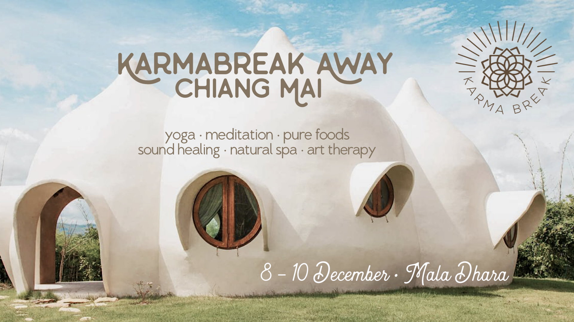 Karma Break Yoga Retreat at Chiang mai Mala Dhara Yoga Retreat Center